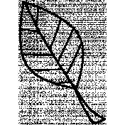 Leaf Doodle Template 027