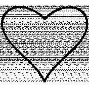 Heart Doodle Template 030