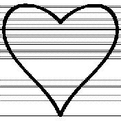 Heart Doodle Template 031