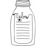 Bottle Doodle Template 012