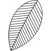 Leaf Doodle Template 032