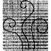 Swirl Doodle Template 045