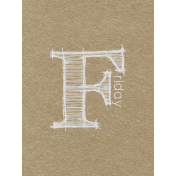 Toolbox Calendar- Sketchy Day Journal Card- Friday 3x4