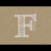 Toolbox Calendar- Sketchy Day Journal Card- Friday 4x3