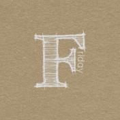 Toolbox Calendar- Sketchy Day Journal Card- Friday 4x4