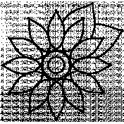 Flower Doodle Template 074