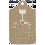 Toolbox Calendar- January 2018 Calendar Tag Brown