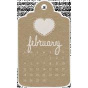 Toolbox Calendar- February 2018 Calendar Tag Brown