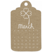 Toolbox Calendar- March 2018 Calendar Tag 02 Brown