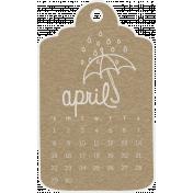 Toolbox Calendar- April 2018 Calendar Tag Brown