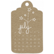 Toolbox Calendar- July 2018 Calendar Tag 02 Brown