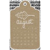 Toolbox Calendar- August 2018 Calendar Tag Brown