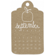 Toolbox Calendar- September 2018 Calendar Tag Brown