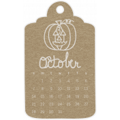 Toolbox Calendar- October 2018 Calendar Tag Brown