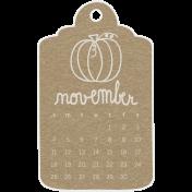 Toolbox Calendar- November 2018 Calendar Tag Brown