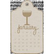 Toolbox Calendar- January 2018 Calendar Tag White