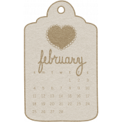 Toolbox Calendar- February 2018 Calendar Tag White
