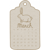 Toolbox Calendar- March 2018 Calendar Tag 01 White