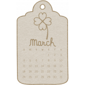 Toolbox Calendar- March 2018 Calendar Tag 02 White