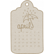 Toolbox Calendar- April 2018 Calendar Tag White
