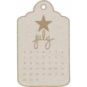 Toolbox Calendar- July 2018 Calendar Tag 01 White
