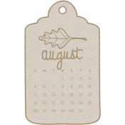Toolbox Calendar- August 2018 Calendar Tag White