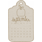 Toolbox Calendar- September 2018 Calendar Tag White