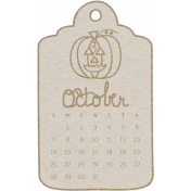 Toolbox Calendar- October 2018 Calendar Tag White