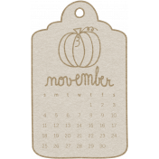 Toolbox Calendar- November 2018 Calendar Tag White