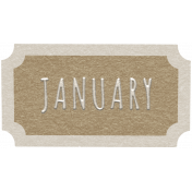 Toolbox Calendar- January Ticket Brown