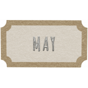 Toolbox Calendar- May Ticket White