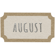 Toolbox Calendar- August Ticket White