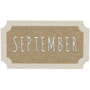 Toolbox Calendar- September Ticket Brown