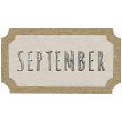 Toolbox Calendar- September Ticket White