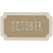 Toolbox Calendar- October Ticket Brown