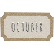 Toolbox Calendar- October Ticket White