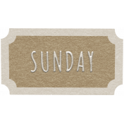 Toolbox Calendar- Sunday Ticket Brown