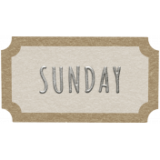 Toolbox Calendar- Sunday Ticket White