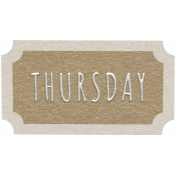 Toolbox Calendar- Thursday Ticket Brown