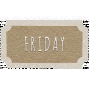 Toolbox Calendar- Friday Ticket Brown