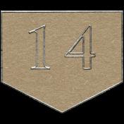 Toolbox Calendar- Arrow Number 14 Brown