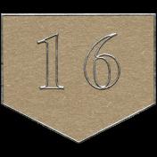 Toolbox Calendar- Arrow Number 16 Brown