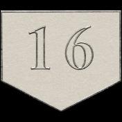 Toolbox Calendar- Arrow Number 16 White