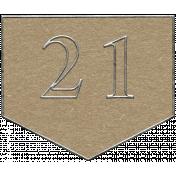 Toolbox Calendar- Arrow Number 21 Brown