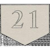 Toolbox Calendar- Arrow Number 21 White