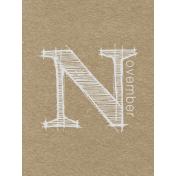 Toolbox Calendar- Sketchy Month Journal Card- November 3x4