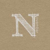 Toolbox Calendar- Sketchy Month Journal Card- November 4x4