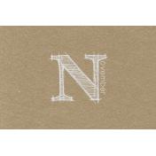 Toolbox Calendar- Sketchy Month Journal Card- November 6x4