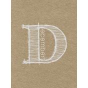 Toolbox Calendar- Sketchy Month Journal Card- December 3x4