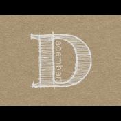 Toolbox Calendar- Sketchy Month Journal Card- December 4x3